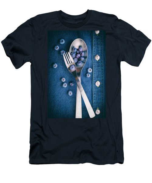 Blueberries On Denim II Men's T-Shirt (Slim Fit) by Tom Mc Nemar