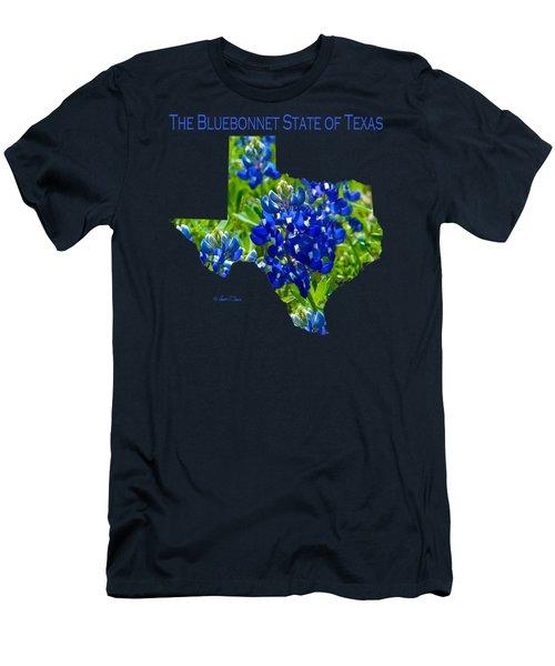 Bluebonnet State Of Texas - T-shirt Men's T-Shirt (Slim Fit) by Robert J Sadler