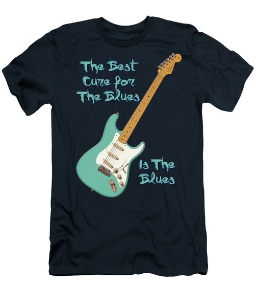 Blues Cure Seafoam Men's T-Shirt (Slim Fit) by WB Johnston