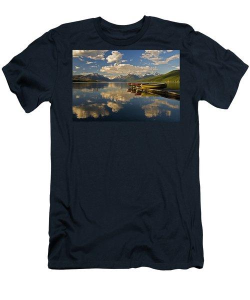 Boats At Lake Mcdonald Men's T-Shirt (Athletic Fit)