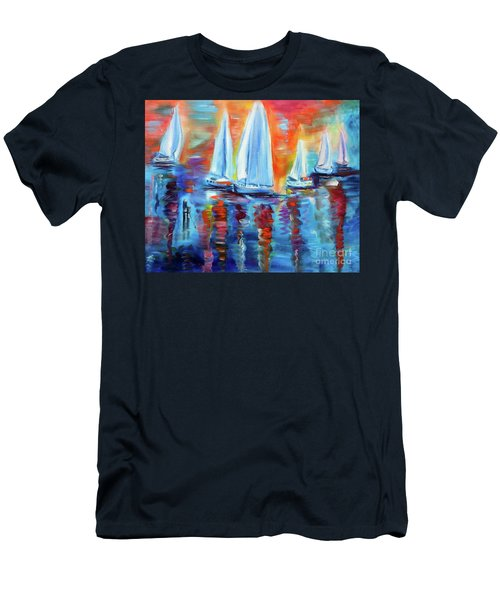 Boats In The Sunset Men's T-Shirt (Athletic Fit)