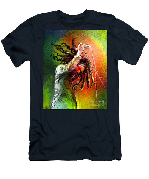 Bob Marley 07 Men's T-Shirt (Athletic Fit)