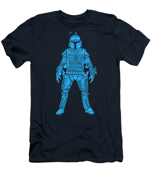 Boba Fett - Star Wars Art, Blue Men's T-Shirt (Athletic Fit)