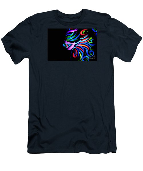 Body Art Breast Men's T-Shirt (Slim Fit) by Tbone Oliver