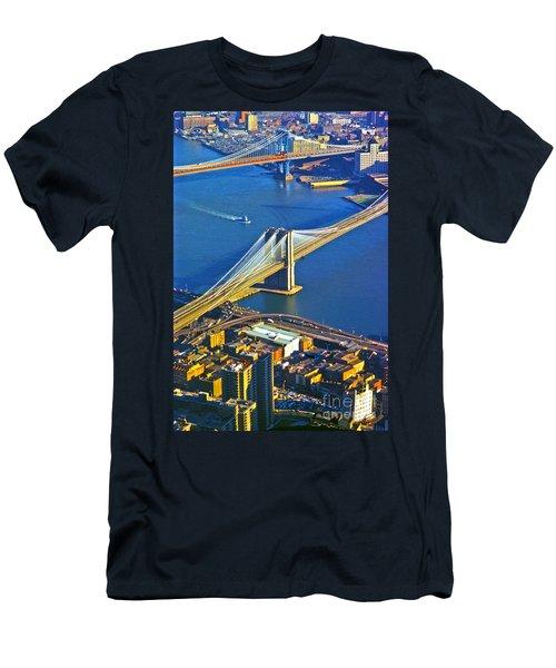 Booklyn And Manhattan Bridges Men's T-Shirt (Athletic Fit)