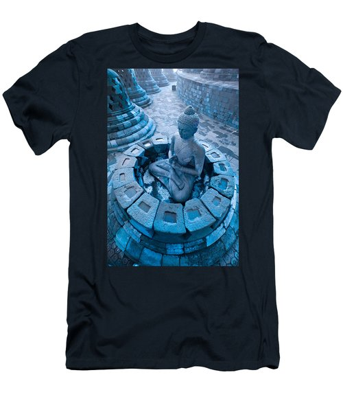 Borobudur Temple Men's T-Shirt (Slim Fit) by Luciano Mortula