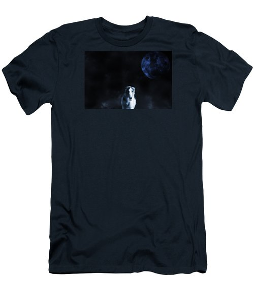 Borzoi Wolf-hound, Hunting Under A Full Moon Men's T-Shirt (Athletic Fit)
