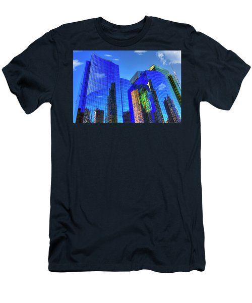 Men's T-Shirt (Athletic Fit) featuring the photograph Boston Reflections - Fort Point Channel by Joann Vitali