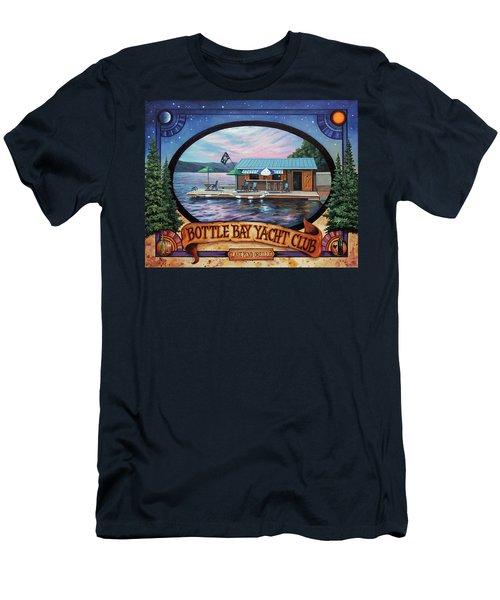 Bottle Bay Yacht Club Men's T-Shirt (Athletic Fit)