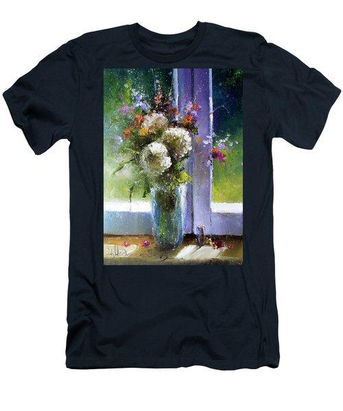 Bouquet At Window Men's T-Shirt (Athletic Fit)