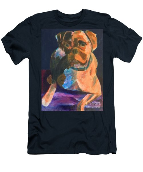 Men's T-Shirt (Slim Fit) featuring the painting Boxer by Donald J Ryker III