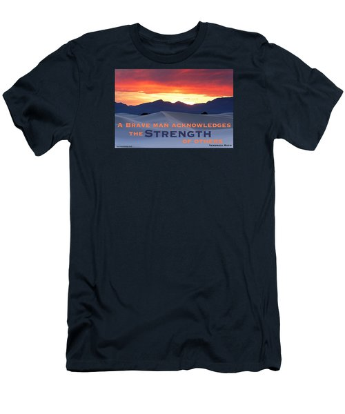 Brave Thoughts Men's T-Shirt (Slim Fit) by David Norman