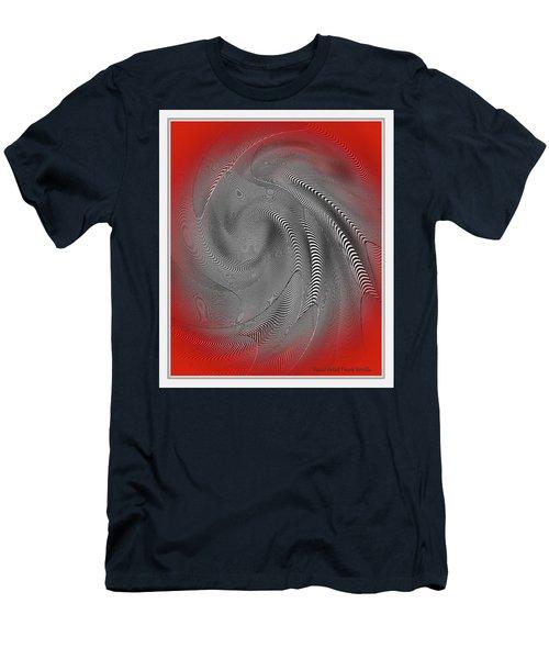 Men's T-Shirt (Athletic Fit) featuring the digital art Breathing Heart by Visual Artist Frank Bonilla