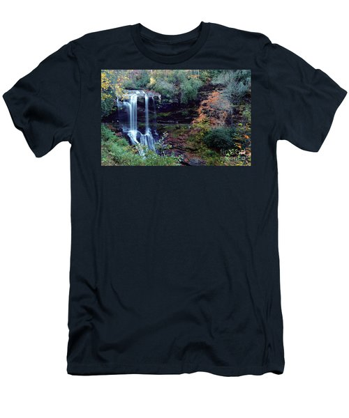 Men's T-Shirt (Athletic Fit) featuring the painting Bridal Veil Waterfalls by Debra Crank