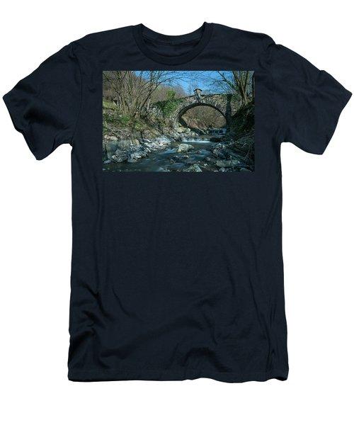 Bridge Over Peaceful Waters - Il Ponte Sul Ciae' Men's T-Shirt (Athletic Fit)
