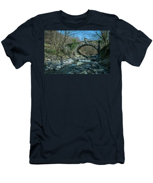 Bridge Over Peaceful Waters - Il Ponte Sul Ciae' Men's T-Shirt (Athletic Fit)