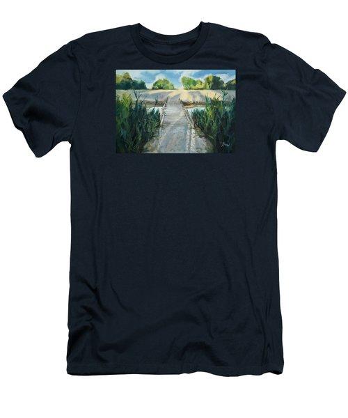 Bridge To Beach Men's T-Shirt (Athletic Fit)