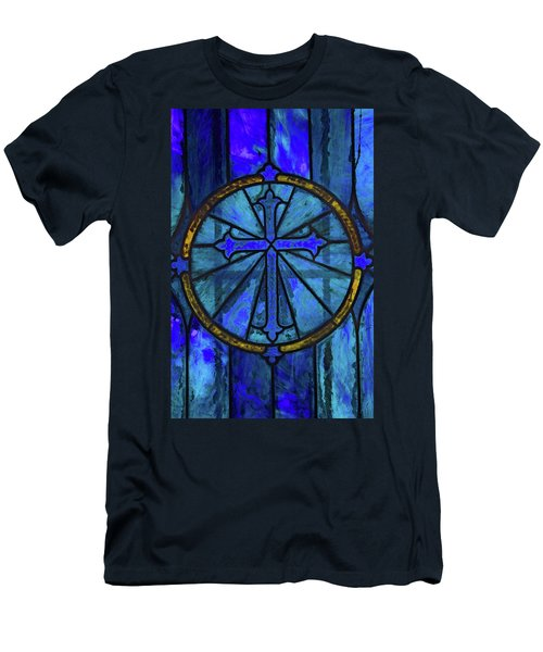 Men's T-Shirt (Slim Fit) featuring the photograph Brillant Blue by Rowana Ray