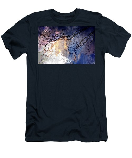 Men's T-Shirt (Slim Fit) featuring the photograph Brilliant Rain by Gray  Artus