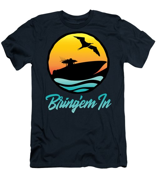 Bring'em In Sunset Cruise Men's T-Shirt (Athletic Fit)