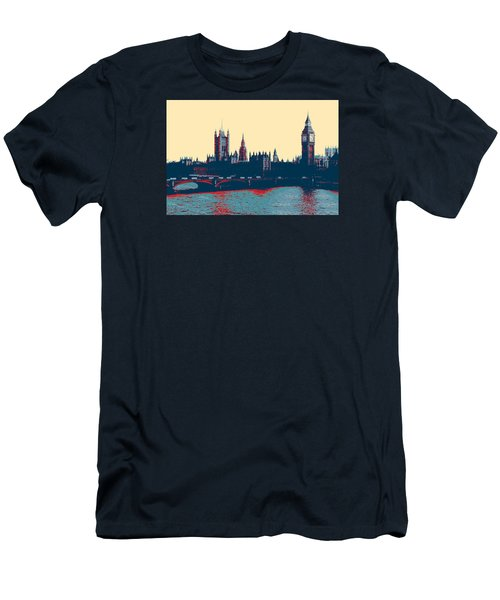 Men's T-Shirt (Athletic Fit) featuring the photograph British Parliament by Artistic Panda