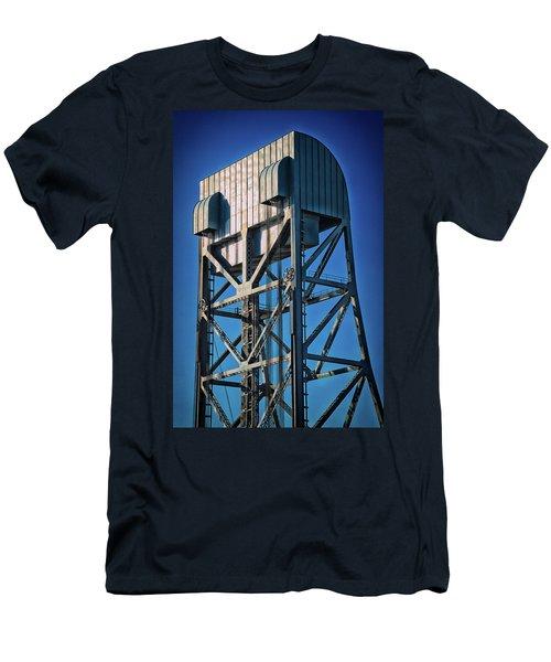 Broadway Bridge South Tower Detail 4 Chromatic Men's T-Shirt (Athletic Fit)