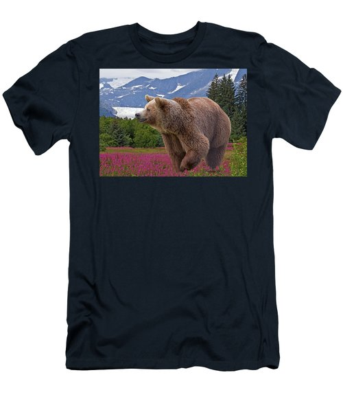 Men's T-Shirt (Athletic Fit) featuring the photograph Brown Bear 2 by Larry Linton