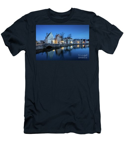 Magical Brugge Men's T-Shirt (Slim Fit) by JR Photography