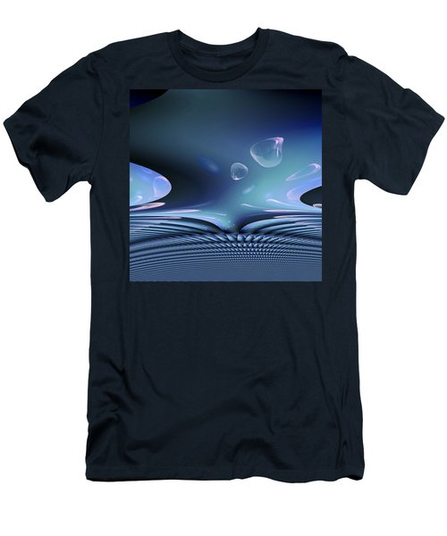 Bubble Abstract Men's T-Shirt (Slim Fit) by Robert G Kernodle