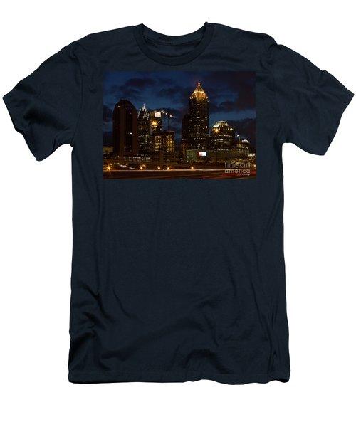 Men's T-Shirt (Slim Fit) featuring the photograph Building Boom Midtown Atlanta Construction Art by Reid Callaway