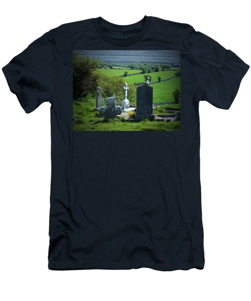 Burren Crosses County Clare Ireland Men's T-Shirt (Athletic Fit)