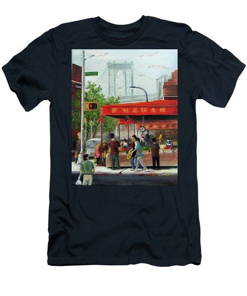 Busy Corner Men's T-Shirt (Athletic Fit)