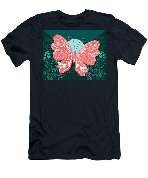 Butterfly Valentine Men's T-Shirt (Athletic Fit)