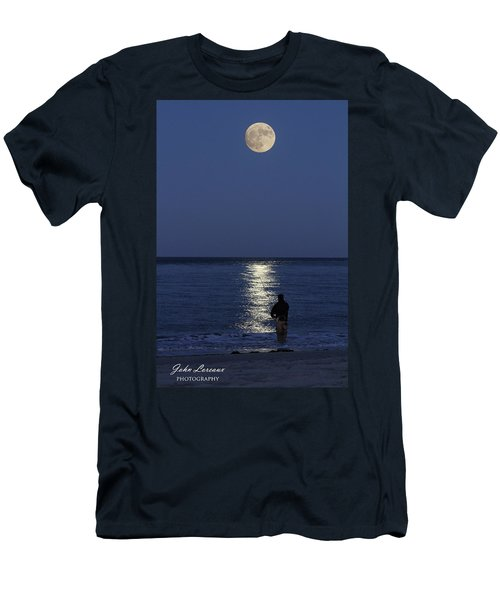 By The Light Of The Supermoon Men's T-Shirt (Slim Fit) by John Loreaux