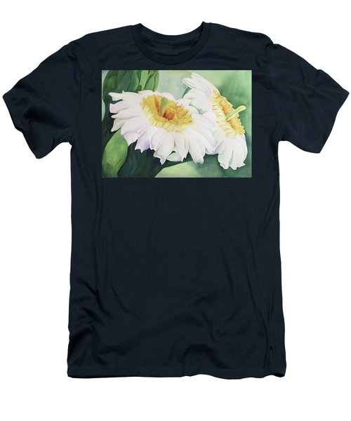 Men's T-Shirt (Slim Fit) featuring the painting Cactus Flower by Teresa Beyer