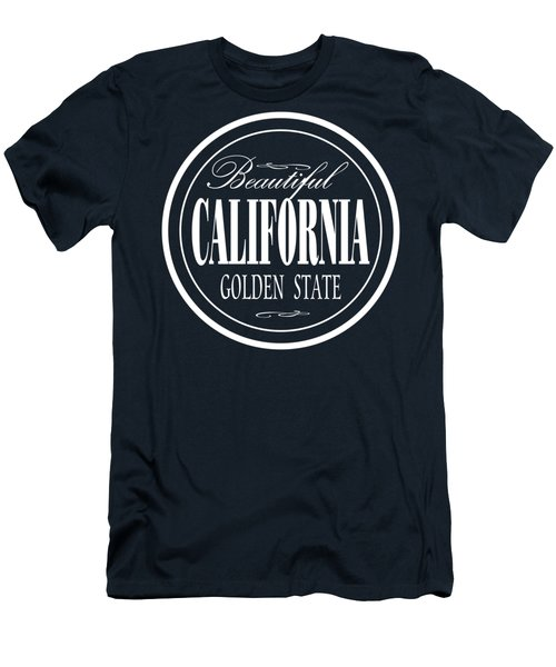 California Golden State Design Men's T-Shirt (Athletic Fit)