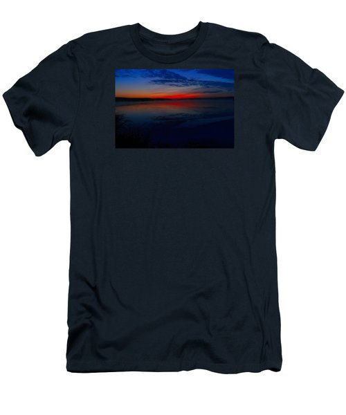 Calm Of Early Morn Men's T-Shirt (Slim Fit) by Jeff Swan