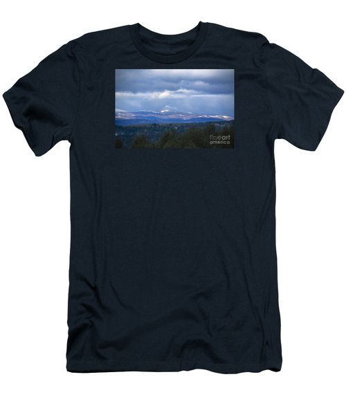 Camel's Hump Mountain  Men's T-Shirt (Slim Fit) by Diane Diederich