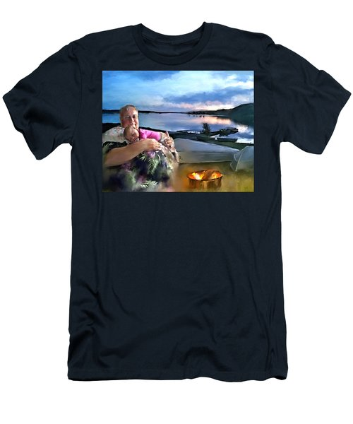 Camping With Grandpa Men's T-Shirt (Slim Fit)