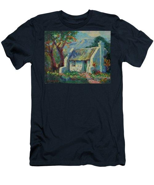 Cape Cottage With Mountains Art Bertram Poole Men's T-Shirt (Athletic Fit)