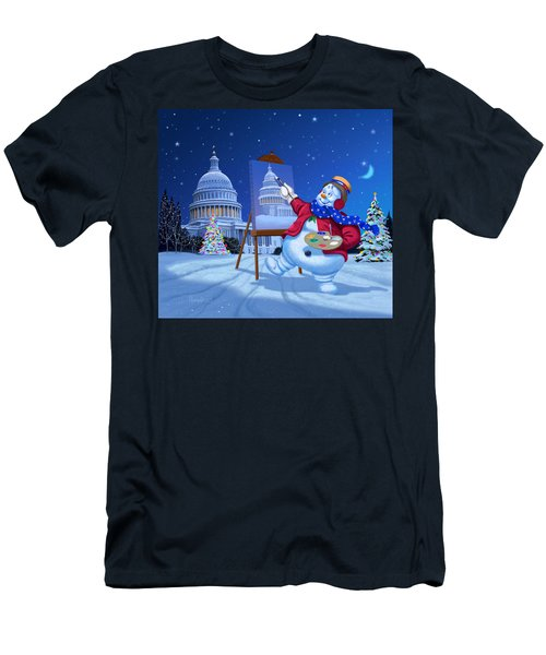 Capitol Snoman Men's T-Shirt (Slim Fit) by Michael Humphries