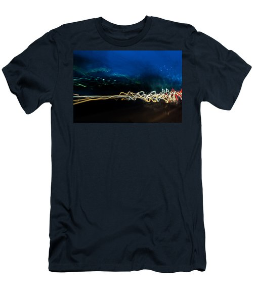 Car Light Trails At Dusk In City Men's T-Shirt (Athletic Fit)