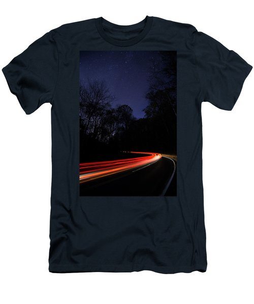 Car Trails Men's T-Shirt (Athletic Fit)