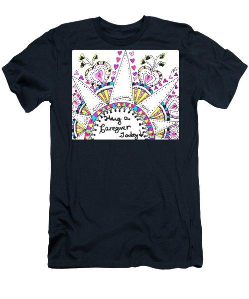 Caregiver Crown Of Hearts Men's T-Shirt (Athletic Fit)