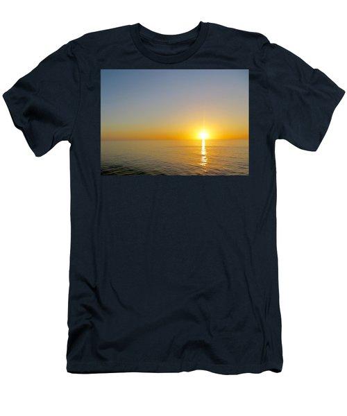 Caribbean Sunset Men's T-Shirt (Slim Fit) by Teresa Wing