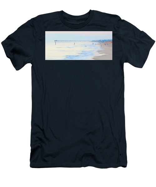 Carolina Beach Thanksgiving Day Men's T-Shirt (Slim Fit) by Glenn Gemmell