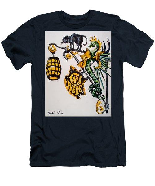 Caru Cu Bere - Antique Shop Sign Men's T-Shirt (Slim Fit) by Dora Hathazi Mendes