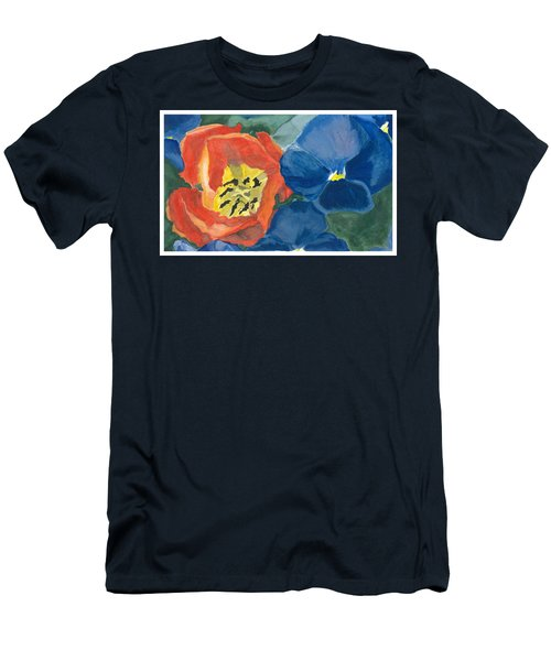 Cat Tulip Men's T-Shirt (Slim Fit)