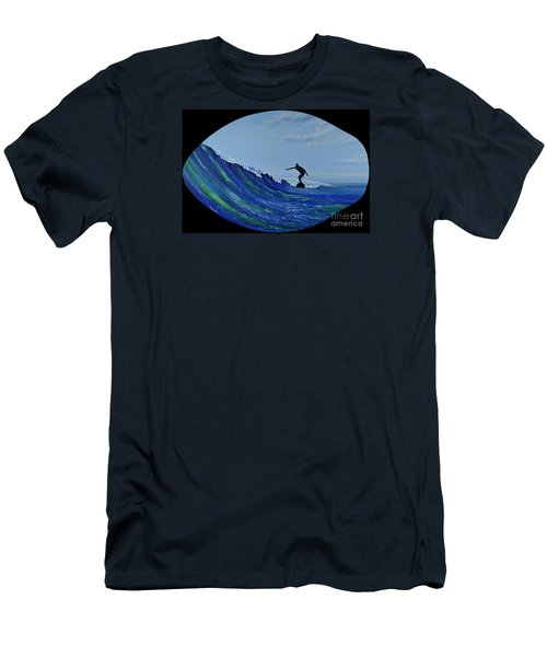 Men's T-Shirt (Athletic Fit) featuring the painting Catch A Wave by Mary Scott