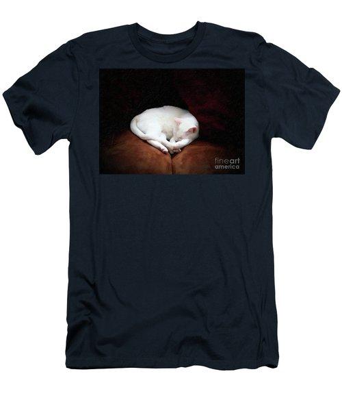Men's T-Shirt (Slim Fit) featuring the photograph Catnap by John Kolenberg